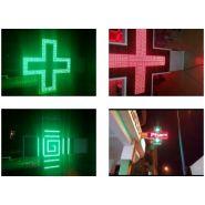 Enseigne pharmacie - 1000volts - Mono-couleur 1m sur 1m