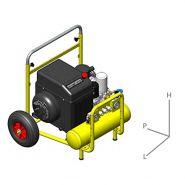 AirPack Trolley Compresseur à vis - Zelup - Niveau sonore ( entre 61 et 68 dba )