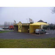 Abri pour station de lavage C1 - Carapax - Dimension 4.85 x 4.00 m