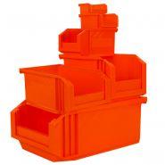 Collection de bacs a bec european - orange fluo