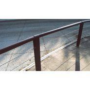SC700 - Barrière cydlimit - MM cité - 4 câbles horizontaux en inox