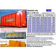 170810 - Benne à déchets - TAM SA - Capacité de 7 à 40 m3
