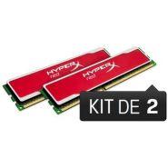 BARRETTE MÉMOIRE 8 GO MODULE HYPERX RED (KIT 2X4 GO) - DDR3 1600 MHZ