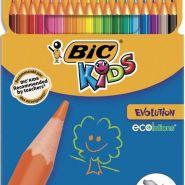 Bic etui carton 18 crayons de couleur evolution. longueur 17,5cm. coloris assortis