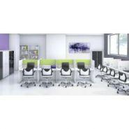 Bureaux call center version droite avec séparation mixte – mobel linea.