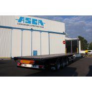 Remorque plateau pour poids lourd - Asca - Châssis 40 pieds