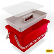 Boite de rangement 10 L Rouge - couvercle Translucide - SERATOU - 5910047