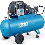 Compresseur d'air à piston bicylindre mono-étagé cylindre fonte vitesse lente a