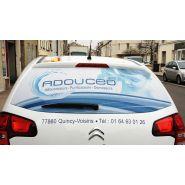 Adhésif microperforé - marquage véhicule - pano sign'service