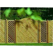 Clôture en bois panneau