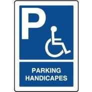 25875 - Panneau place handicapé - VIRAGES - Dimension 140 x 200 mm