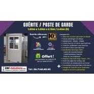 GUÉRITE / POSTE DE GARDE / ABRIS GARDIEN DE 1.50M X 1.20M