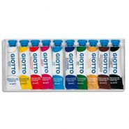 Giotto boite rigide packebordable de 10 tubes 10ml de gouache, coloris assortis