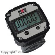 K600 b/3 - débitmètre électronique carburant - piusi spa - liquide : gasoil - doté d'un écran plus grand de 80 mm pour faciliter la lecture, avec un total partiel à 5 chiffres (h=11,5 mm) avec virgule flottante de 0,001 à 999,99 total