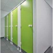Cabine sanitaire Cabifirst19601500 / hauteur 196 cm / épaisseur parois 10 mm