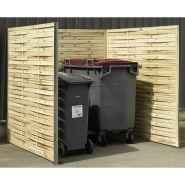 Cache-conteneur - Normequip - en panneaux bois tressé