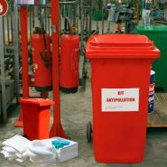 Kits antipollution - kit d'intervention 130 litres hydrocarbures