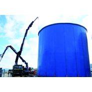 W-tank plaque burgos - Réservoir de stockage industriel - Toro equipment - Le poids de la plaque varie en diamètre et en hauteur : poids maximum 800 kg/plaque
