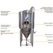 Standard SCB - Réservoir de stockage industriel - Incon - Fond conique 60° - Porte ovale radial