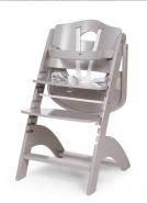 Chaise haute évolutive pour bébé coloris gris clair