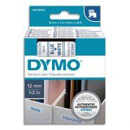 DYMO RUBAN D1 BLEU/BLANC 12MMX7M POUR 1000/1000+/2000/3500/4500/5000/5515