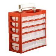 Mallette 15 tiroirs avec poignée de transport