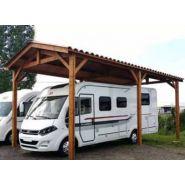 Abri camping-car ouvert Douglas / structure en bois / toiture à deux pans en acier / 3.74 x 3.20 m