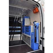 Aménagement d'un atelier mobile sur fourgon utilitaire de plombier/chauffagiste