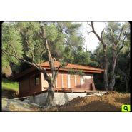 Chalet en bois / double paroi / 56 m² / en kit / multipente