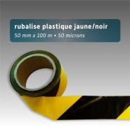 Ruban de chantier - rubalise - plastique 50mm*100m jaune/noir