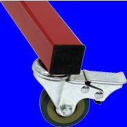 Lot de 4 Roulettes pour barrière de chantier modulable - 8000233