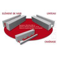 BLOC DE COFFRAGE ISOLANT - GAMME EXTRA