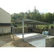 Abri voiture autoportant / structure en acier / toiture plate