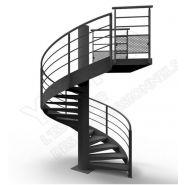 Escalier hélicoïdal ysotube - ysofer esca - passage 1up ou 2up