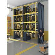 Stockeur rotatif vertical mécanique pour touret et bobine
