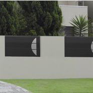 Arcs - clôture en aluminium - 123 pvc alu - thermolaqué