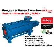 Pompe haute pression multicellulaire série sihimulti msl, msm de flowserve sihi