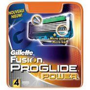GILLETTE FUSION PROGLIDE POWER LAMES AVEC MICRO-PEIGNE X 4