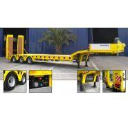Remorque porte-engins / PTAC 54t / 3 essieux / plateau extensible / 11.9 x 2.55 m