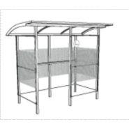 Abri fumeur / structure en acier / bardage en verre trempé / 3.01 x 1.7 m