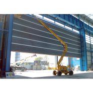 Porte rapide Megapack / souple / à empilement / en plastique / utilisation intérieure et extérieure / 30000 x 35000 mm / ignifuge