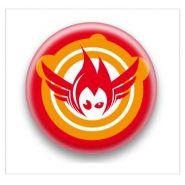 Badge flamme volente