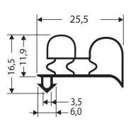 JOINT PVC A CLIPSER SANS AIMANT POUR MEUBLES FRIGOS JPC-009