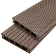 LOT DE 2M² DE LAMES DE TERRASSE COMPOSITE DUAL COUL. REDWOOD  DIM. 2400MM  - KIT LENGOW