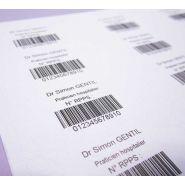 RPPS - Etiquettes médicales et pharmaceutiques - Luquet Duration -  en planches réglementaires