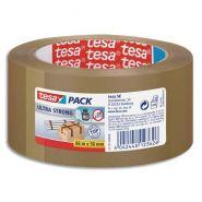 Tesa adhésif d'emballage en pvc colle caoutchouc naturel 65 microns - h50 mm x l66 mètres havane