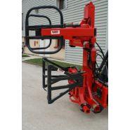 T1290 - Chargeurs et valets de fermes - Bugnot - Mat de surélévation pour 2 bottes rondes ou rectangulaires