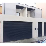 Porte de garage enroulable aluteq / motorisée / lames en aluminium / isolation thermique / 400 x 280 cm
