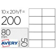 BADGE AVERY ADHSIF AMOVIBLE TEXTIL 80X50MM IMPRESSION LASER COLORIS BLANC BOTE 200U