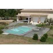 Abri piscine bas / amovible / manuel / en polycarbonate